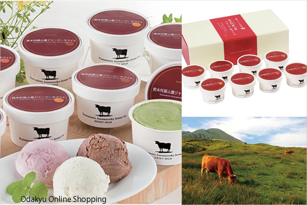 2020年 お中元 サマーギフト 夏ギフト アイスクリーム 熊本阿蘇山麓 ジャージー牛 アイスクリーム