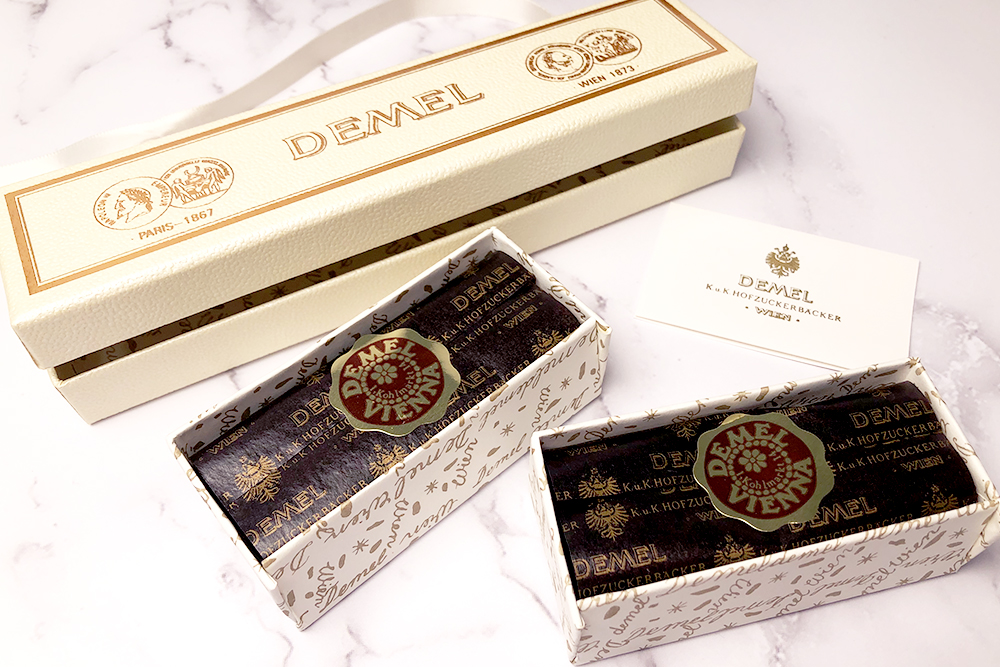 お取り寄せ DEMEL デメル オーストリア 王室御用達 ウィーン ハプスブルク ソリッドチョコ トライアングル チョコレート ショコラ 猫ラベル バレンタイン