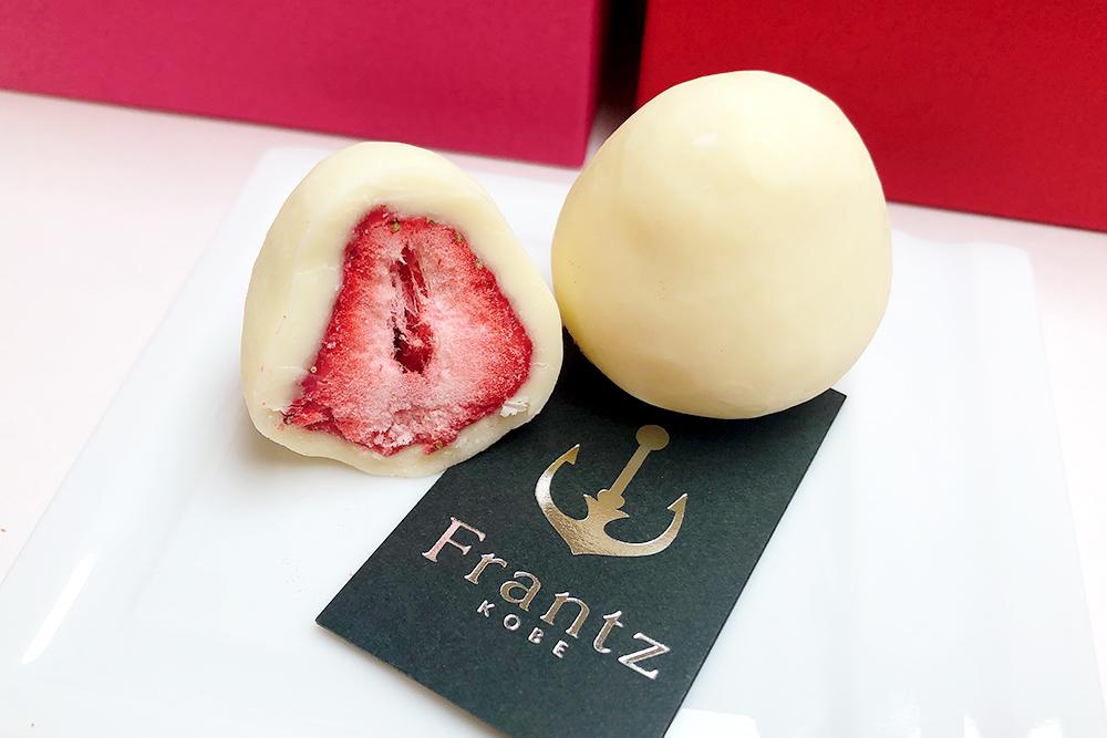 お取り寄せ 神戸フランツ Frantz kobefrantz 神戸苺トリュフ 神戸セレブショコラ チョコレート パケ買い 赤いBOX 限定 苺 イチゴ