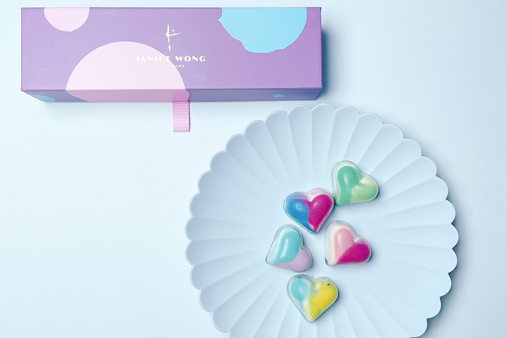 お取り寄せ JANICE WONG ジャニスウォン シンガポール ジャニスハートボックスオブ5 ハートボックス チョコレート ショコラ サロンデュショコラ バレンタイン ホワイトデー