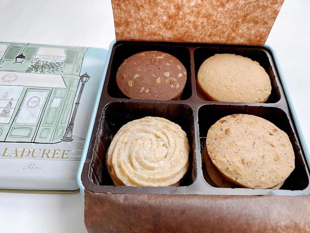 お取り寄せ ラデュレ LADUREE フランス クッキー缶 サブレ缶 限定 東急フードショー パリジェンヌ サブレ