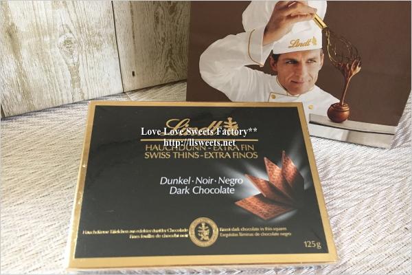 お取り寄せ Lindt(リンツ) スイスシン・ダークチョコレート