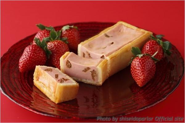 スイーツ情報 資生堂パーラー 手焼きチーズケーキ いちご