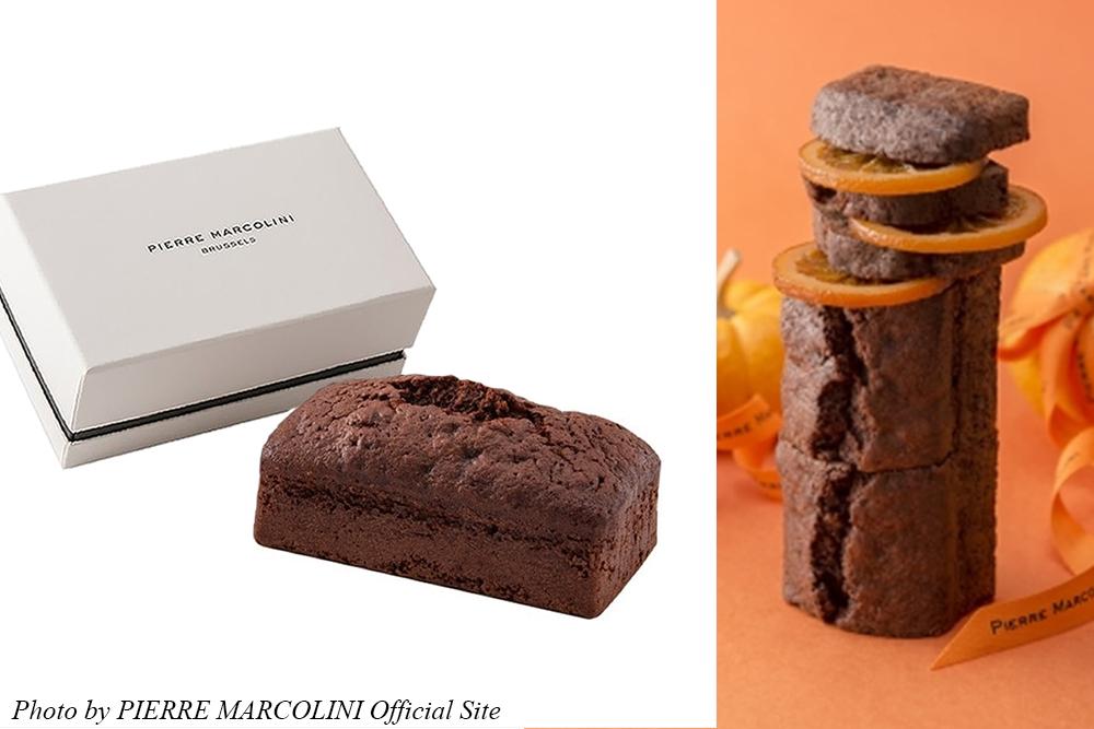 お取り寄せ PIERRE MARCOLINI ピエール・マルコリーニ BRUSSELS ブリュッセル ベルギー チョコレートケーキ おしゃれスイーツ 手みやげ 自宅カフェ カフェタイム オレンジチョコレートケーキ
