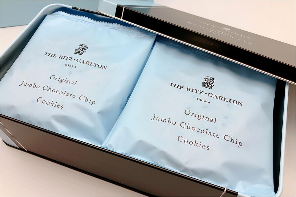 お取り寄せ THE RITZ CARLTON OSAKA ザ・リッツ・カールトン大阪 リッツカールトン ジャンボチョコレートチップクッキー クッキー缶 希少 ホテルスイーツ 高級 接待の手みやげ